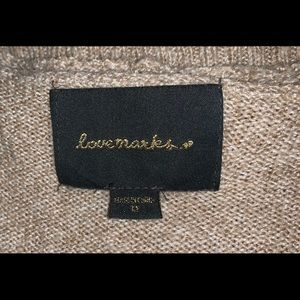 Love Makers ribbed cardigan